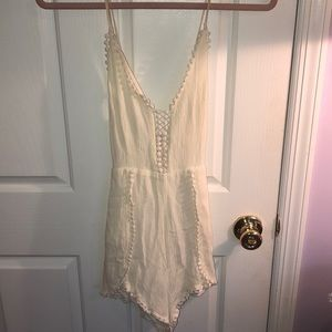 Linen Cross-Back Romper